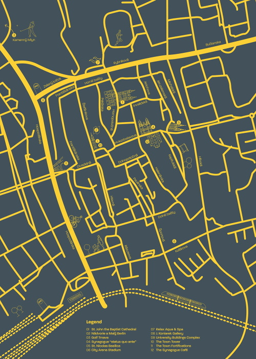Map - Trnava center